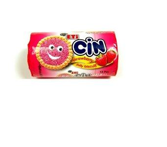 Eti cin gel biscuits met aardbeiensmaak  (13 stuks)